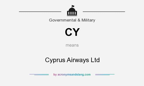 What does CY mean? It stands for Cyprus Airways Ltd