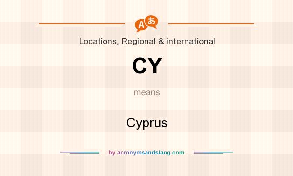 What does CY mean? It stands for Cyprus