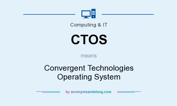 What does CTOS mean? It stands for Convergent Technologies Operating System