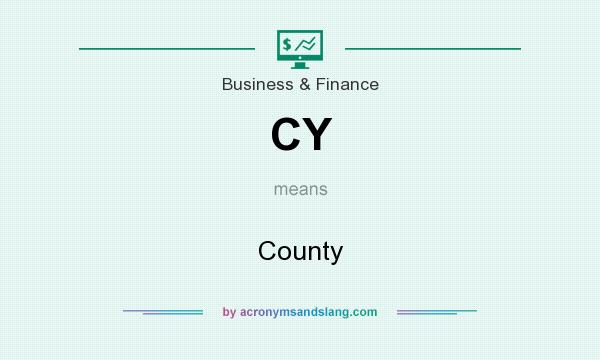 What does CY mean? It stands for County