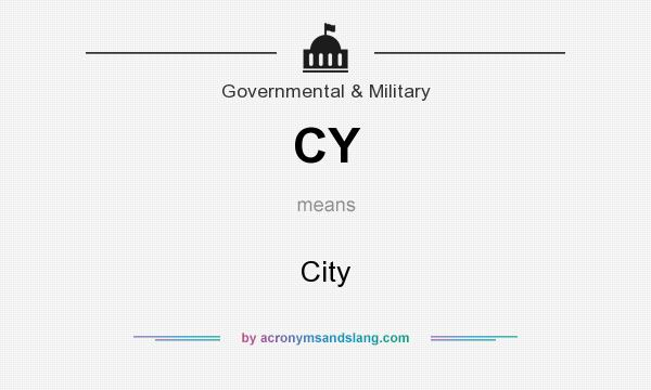 What does CY mean? It stands for City