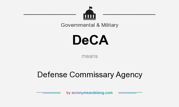 What does DeCA mean? It stands for Defense Commissary Agency