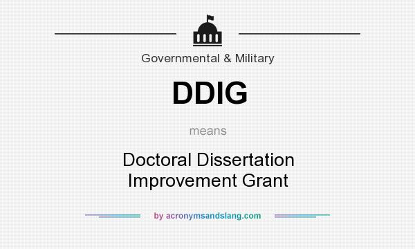 Doctoral Dissertation Improvement Grant