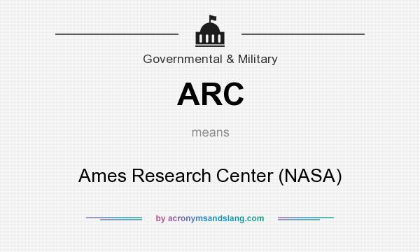 What does ARC mean? It stands for Ames Research Center (NASA)