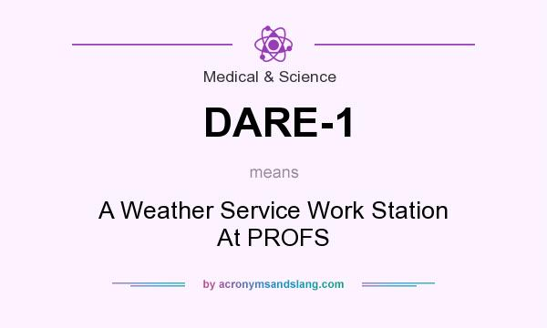 What does DARE-1 mean? It stands for A Weather Service Work Station At PROFS