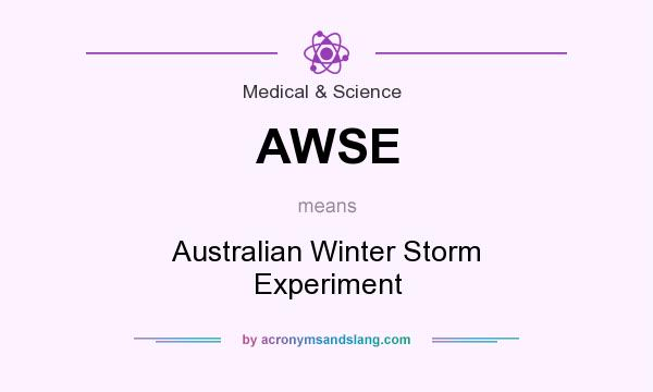 What does AWSE mean? It stands for Australian Winter Storm Experiment