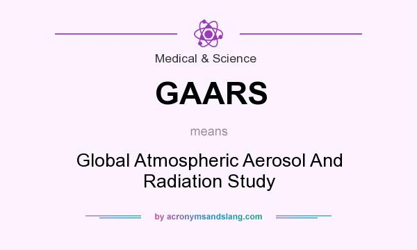 What does GAARS mean? It stands for Global Atmospheric Aerosol And Radiation Study