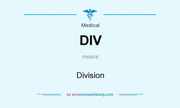 What does DIV mean? It stands for Division