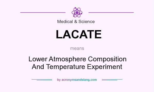 What does LACATE mean? It stands for Lower Atmosphere Composition And Temperature Experiment