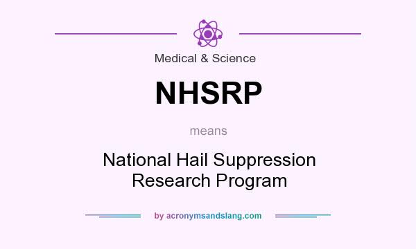 What does NHSRP mean? It stands for National Hail Suppression Research Program