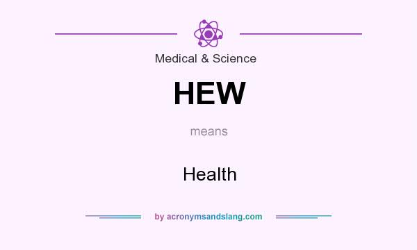 What does HEW mean? It stands for Health