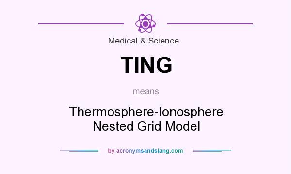 ting thermosphere ionosphere nested grid model in medical