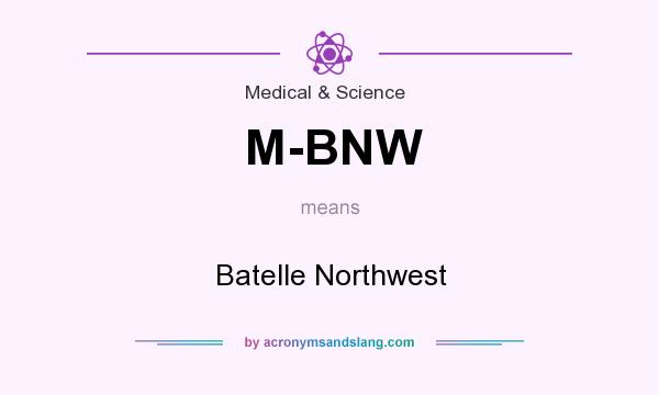 What does M-BNW mean? It stands for Batelle Northwest
