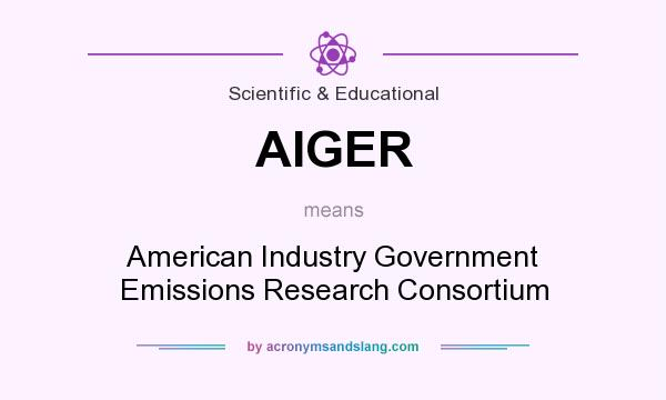 What does AIGER mean? It stands for American Industry Government Emissions Research Consortium