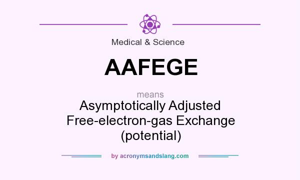 What does AAFEGE mean? It stands for Asymptotically Adjusted Free-electron-gas Exchange (potential)