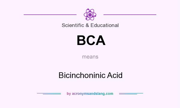 What does BCA mean? It stands for Bicinchoninic Acid