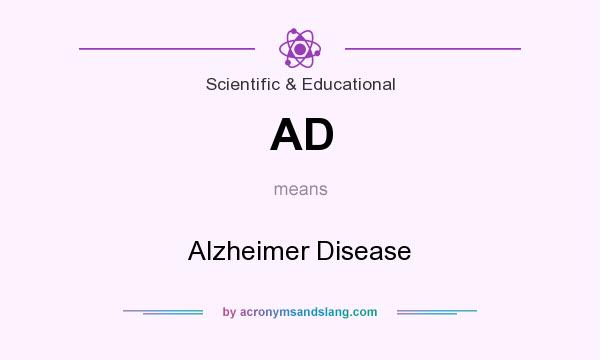 What does AD mean? It stands for Alzheimer Disease