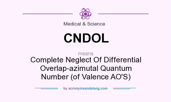 What does CNDOL mean? It stands for Complete Neglect Of Differential Overlap-azimutal Quantum Number (of Valence AO`S)