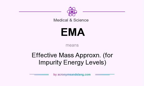 What does EMA mean? It stands for Effective Mass Approxn. (for Impurity Energy Levels)