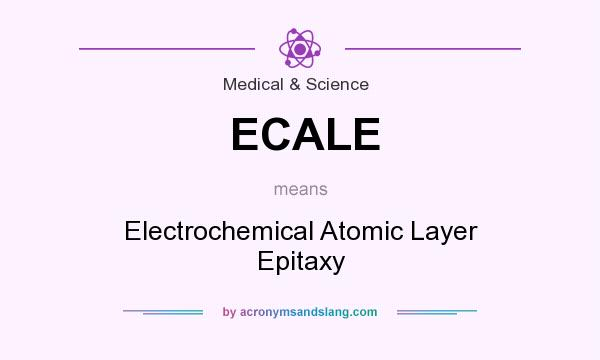 What does ECALE mean? It stands for Electrochemical Atomic Layer Epitaxy