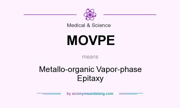 What does MOVPE mean? It stands for Metallo-organic Vapor-phase Epitaxy