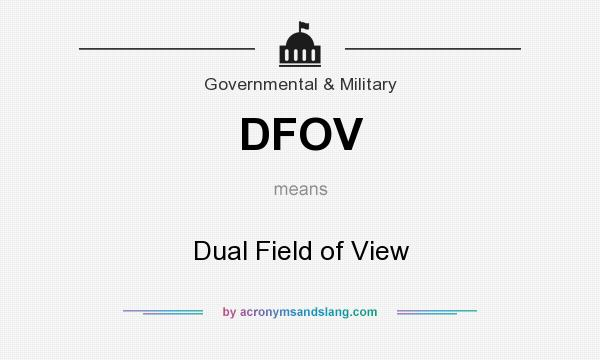 What does DFOV mean? It stands for Dual Field of View