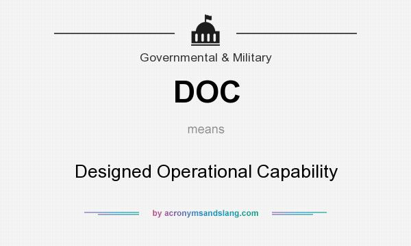 What does DOC mean? It stands for Designed Operational Capability