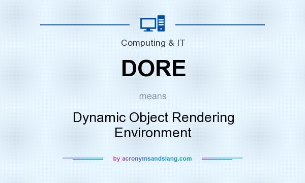 What does DORE mean? It stands for Dynamic Object Rendering Environment