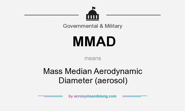 What does MMAD mean? It stands for Mass Median Aerodynamic Diameter (aerosol)