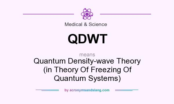What does QDWT mean? It stands for Quantum Density-wave Theory (in Theory Of Freezing Of Quantum Systems)