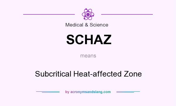 What does SCHAZ mean? It stands for Subcritical Heat-affected Zone
