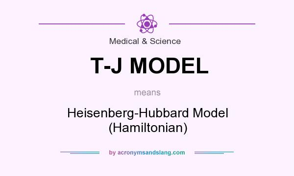 What does T-J MODEL mean? It stands for Heisenberg-Hubbard Model (Hamiltonian)