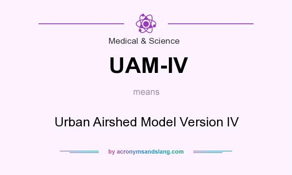 What does UAM-IV mean? It stands for Urban Airshed Model Version IV