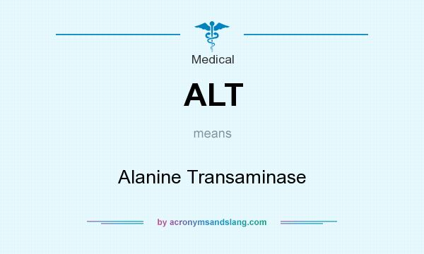 What does ALT mean? It stands for Alanine Transaminase