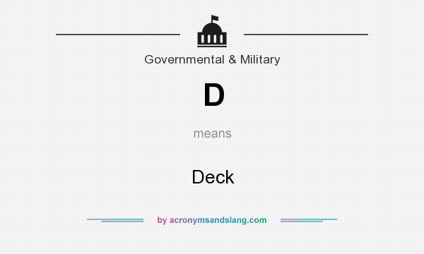 What does D mean? It stands for Deck