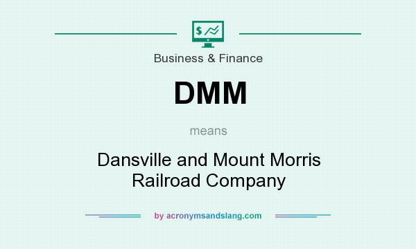 What does DMM mean? It stands for Dansville and Mount Morris Railroad Company
