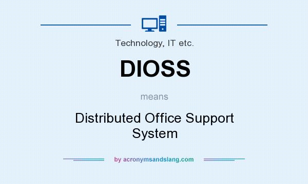 What does DIOSS mean? It stands for Distributed Office Support System