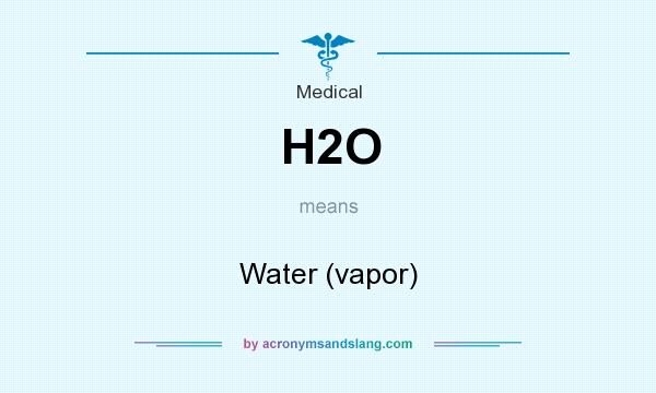 What does H2O mean? It stands for Water (vapor)