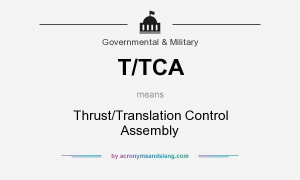 What does T/TCA mean? It stands for Thrust/Translation Control Assembly