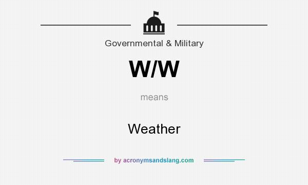 What does W/W mean? It stands for Weather
