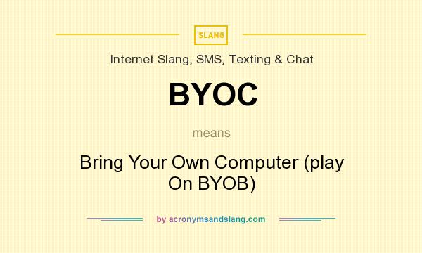 What does BYOC mean? It stands for Bring Your Own Computer (play On BYOB)
