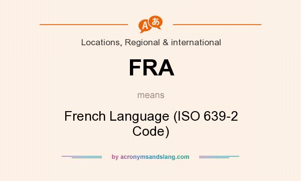 FRA - French Language (ISO 639...
