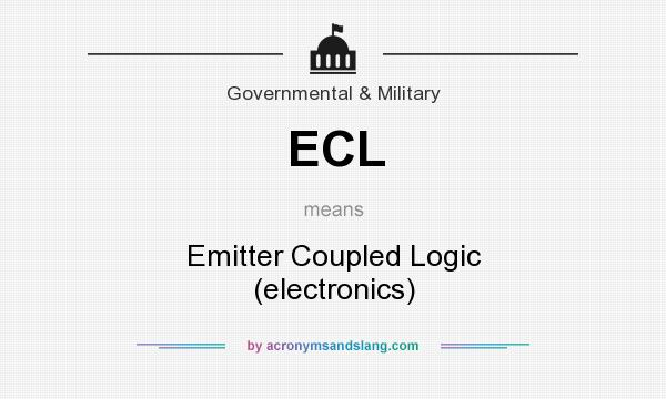What does ECL mean? It stands for Emitter Coupled Logic (electronics)