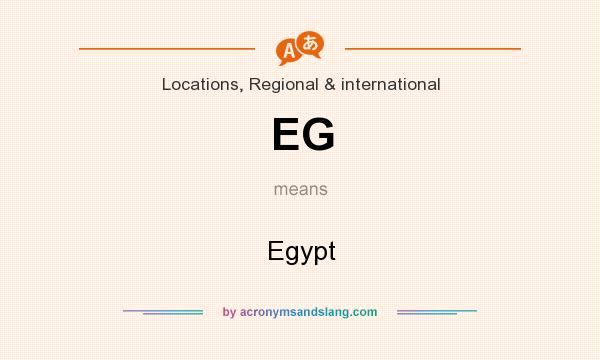 What does EG mean? It stands for Egypt
