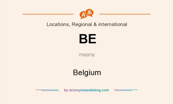 What does BE mean? It stands for Belgium