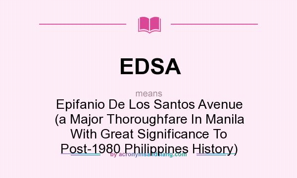 the role of media in edsa The 1986 people power revolution the edsa revolution the military's role would then be to take over the media stations and others to restrict any counter.