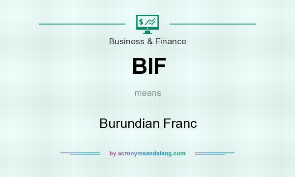 What does BIF mean? It stands for Burundian Franc