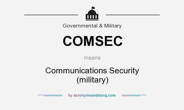What does COMSEC mean? It stands for Communications Security (military)