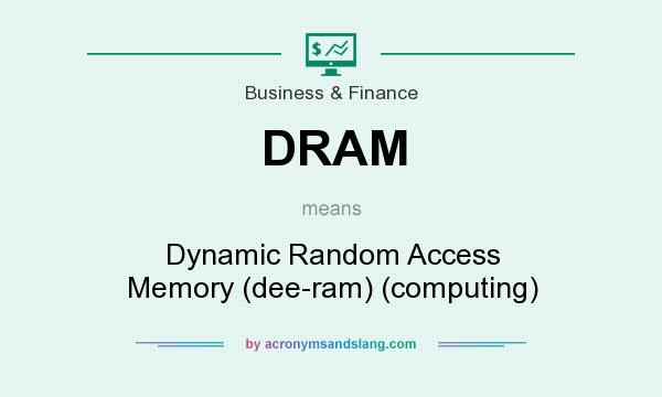 What does DRAM mean? It stands for Dynamic Random Access Memory (dee-ram) (computing)