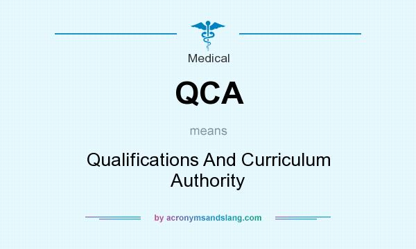 What does QCA mean? It stands for Qualifications And Curriculum Authority
